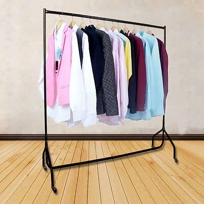 UK Portable Heavy Duty Rail 6ft Clothes Garment Dress Hanging Display Stand Rack