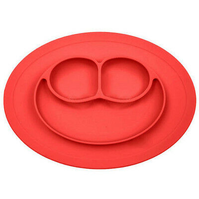 HOT One-piece Silicone Mat Baby Kids Suction Table Food Tray Placemat plate