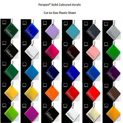 Perspex Sheets Coloured Acrylic Genuine 3mm Thick Large Sheets Made in the UK