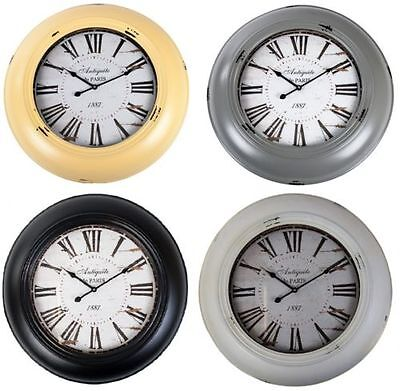 Wall Clock Vintage 60cm Retro Antique Living Room Nostalgic Railway Station
