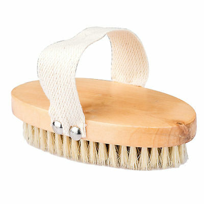 New Professional Dry Skin Body Brush with Cactus Bristles Hard Strength