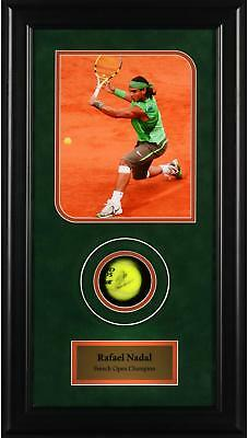 Rafael Nadal Autographed Tennis Ball French Open Shadowbox