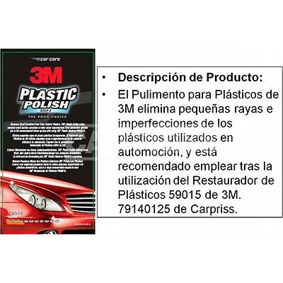 3m 59016 Polish For Plastics 500 Ml