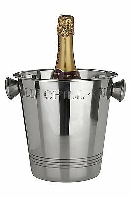 Bombay Chill Stainless Steel Wine Drinks Ice Champagne Bucket Bottle Chiller