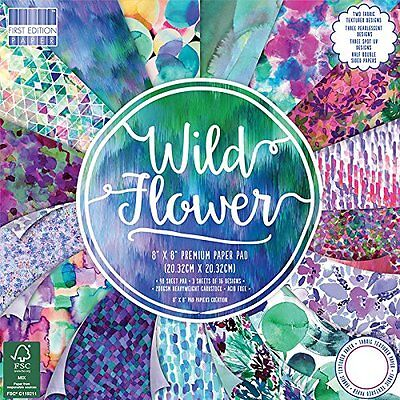 Dovecraft First Edition 8x8 Paper - Wild Flower - Scrapbooking Cards