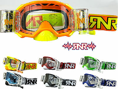 RIP N ROLL RNR COLOSSUS PLATINUM MOTOCROSS WVS ROLL OFF GOGGLES enduro mx 48MM