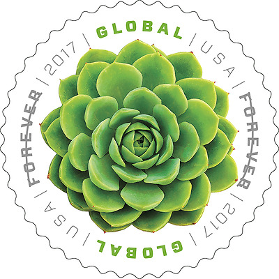 2017 Green Succulent Global Forever(international Rate) - MNH