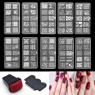 1pc NAIL ART STAMPING PLATES - Template Stamping Manicure Flowers Laces DIY