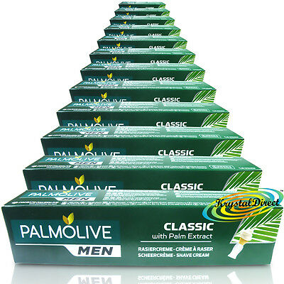 12x Palmolive Classic Shaving Lather Shave Cream 100ml With Palm Extract