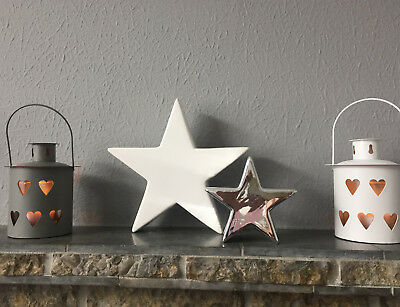 Lovely Chic Comtemporary Ceramic Star Ornaments 2 Sizes And Colours