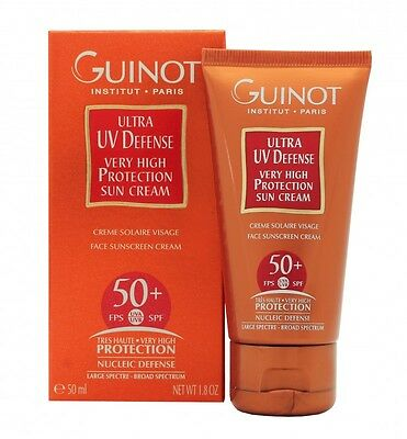 Guinot Ultra Uv Defense Very High Protection Sun Cream Spf50+ 50Ml. New