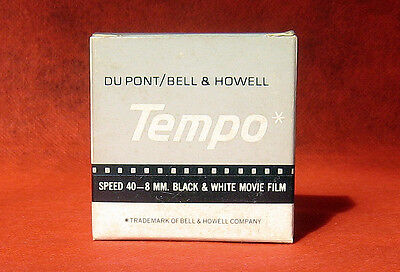 Du Pont Bell & Howell Tempo Speed 40-8mm B&W Movie Film (New,Old Stock)
