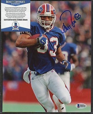 Andre Reed ( Blue ) Signed 8x10 Photo Beckett BAS COA AUTO Autograph