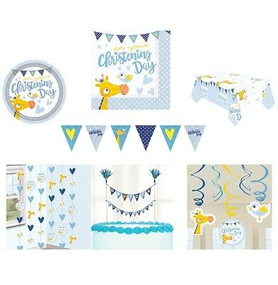 ON YOUR CHRISTENING BLUE/BOY Party Range - Tableware & Decorations {AMSCAN}