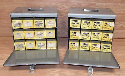 **Lot of 24** Yankee Brand Universal Slide Trays With 2 Metal Cases **READ**