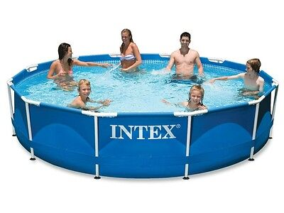 intex metal frame pool 305 x 76 cm rund stahlrohrbecken. Black Bedroom Furniture Sets. Home Design Ideas
