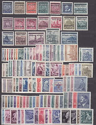 NAZI GERMANY PROTECTORATE Bohemia and Moravia COMPLETE COLLECTION 1939-1945 -MNH