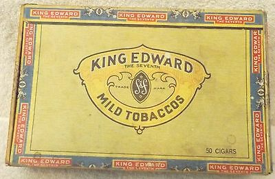 VINTAGE CIGAR BOX--KING EDWARDS IMPERIAL by JOE H. SWISHER & SON, INC--FLORIDA