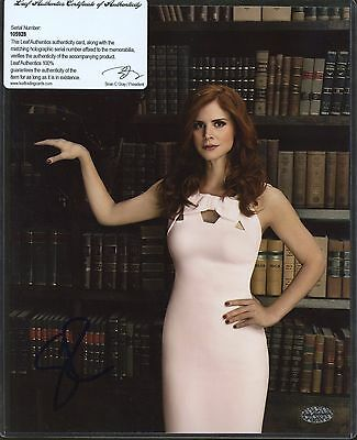 Sarah Rafferty Signed 8x10 Photo Leaf COA AUTO Autograph