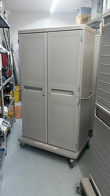 Metro Starsys Double Width Two Door Mobile Storage Cabinet With 4 Shelves