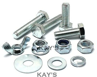 M6 Choice Of Fully Threaded Bolts, Nuts Or Washers High Tensile 8.8 Zinc Plated