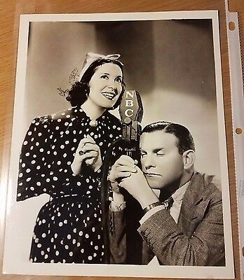✴VINTAGE ORIGINAL✴ NBC TV Studio George Burns Gracie Allen Promotion Photo 1937