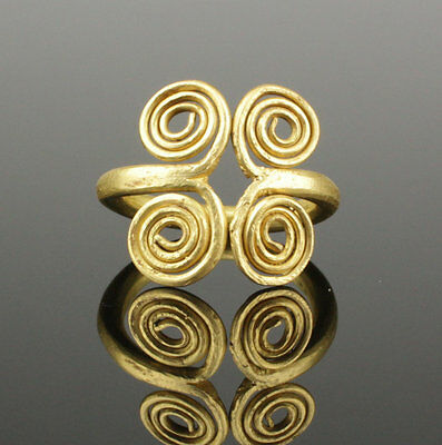Magnificent Ancient Viking Gold Ring - Circa 10Th Century Ad