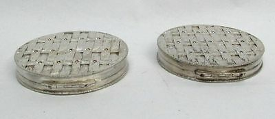 Delightful Pair Of Silver Jeweled Italian Compacts