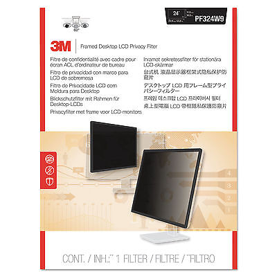 "OEM 3M Framed Desktop Monitor Privacy Filter 24"" Widescreen Computer LCD Monitor"