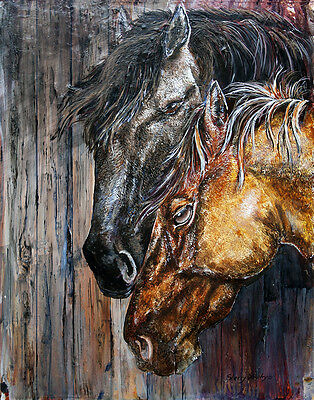 THE BOND 8X10  HORSE  print by Artist Sherry Shipley