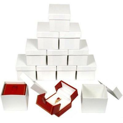 12 Red Double Door Ring Gift Boxes Jewelry Display