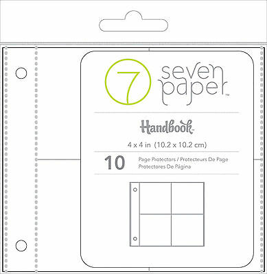 Studio Calico 4x4 Pocket Page Protectors 10-PK scrapbooking 332599 2x2 pockets