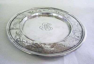 Rare Antique Sterling Silver Nursery Rhyme Youth Plate