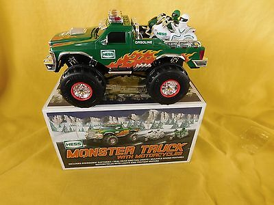 HESS 2007 MONSTER TRUCK with Motorcycles NIB (new in box) MINT NOS