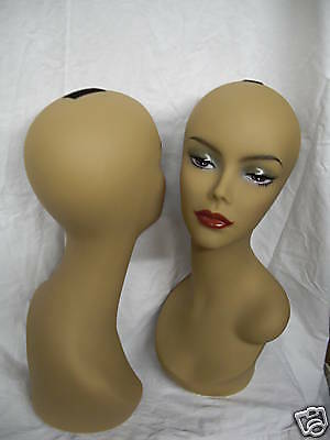 New Mannequin Head-Wig/hat/jewelry Display Profesional