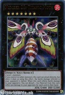 DUSA-EN013 Number 28: Titanic Moth Ultra Rare 1st Edition Mint YuGiOh Card