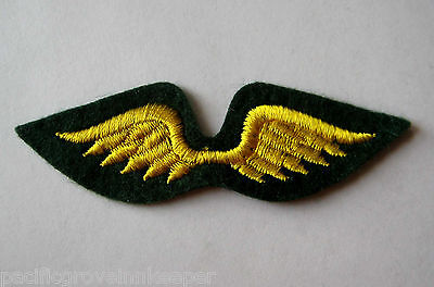 Girl Scout 1970-Current Brownie Yellow Gold WINGS TO JUNIORS Patch Fly-Up Badge