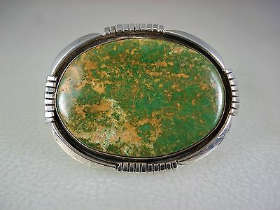 VINTAGE Lonnie Willie NAVAJO STERLING SILVER & HACHITA TURQUOISE PIN