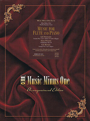 Music for Flute and Piano Intermediate Sheet Music Minus One Play-Along Book CD