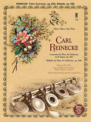 Carl Reinecke Concerto for Flute & Orchestra Sheet Music Minus One Book 2 CD NEW