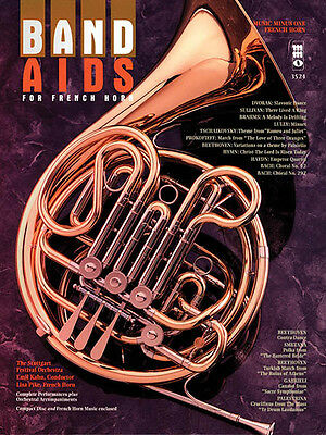 Band Aids for French Horn Classical Sheet Music Minus One Play-Along Book CD NEW