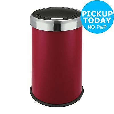 HOME 50 Litre Red Stainless Steel Press Top Bin -From the Argos Shop on ebay