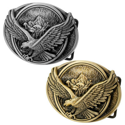 Buckle Rage Men's Flying Soaring Eagle Over Mountains Country Pride Belt Buckle