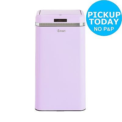 Swan Retro 45 Litre Square Sensor Bin - Pink. From the Argos Shop on ebay