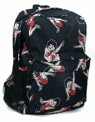 Black Classic Betty Boop All Over Print Backpack