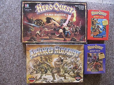 Hero Quest Game System + Advanced Heroquest + Witch Lord + Kellar's Keep