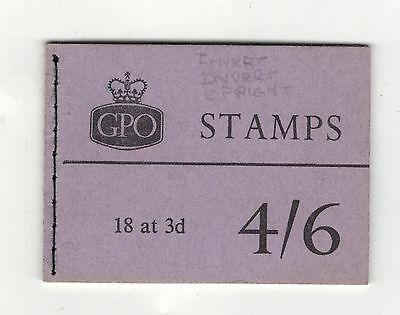 GREAT BRITAIN SG.L16g JUNE 1959. 4/6- Graphite Booklet .SEE PICTURES