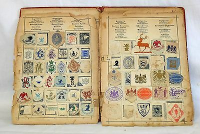 Collection of 450+ Cinderella Labels in an old stamp album