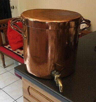 Fab Antique Victorian Benham & Froud Copper Water Tea Urn Boiler Lid Skillet Pan