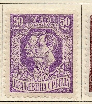 Serbia 1918 Early Issue Fine Mint Hinged 50p. 151599